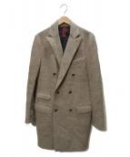 eleventy(イレブンティ)の古着「ダブルチェスターコート」 グレー