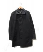 BOSS HUGO BOSS(ボス ヒューゴ ボス)の古着「ステンカラーコート」|ブラック