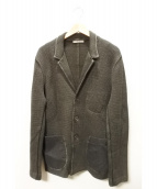 BOGLIOLI(ボリオリ)の古着「3Bニットジャケット」 グレー