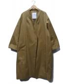 ELENDEEK(エレンディーク)の古着「テントトッパーチノコート」 ベージュ