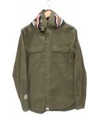 A BATHING APE(エイプ)の古着「シャークフード付きシャツ」 オリーブ