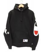 Supreme×Champion(シュプリーム×チャンピオン)の古着「プルオーバーパーカー」|ブラック