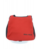 MIU MIU(ミュウミュウ)の古着「ニットショルダーバッグ」|レッド