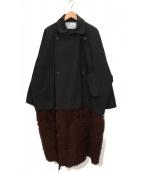 Dulcamara(ドゥルカマラ)の古着「ダブルロングスイッチコート」|グレー