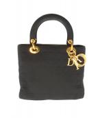 Christian Dior(クリスチャン ディオール)の古着「レディディオールナイロンハンドバッグ」 ブラック