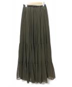 DOUBLE STANDARD CLOTHING(ダブルスタンダードクロージング)の古着「プリーツスカート」|グリーン