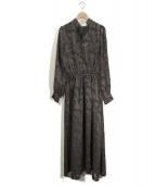 iNtimite(アンティミテ)の古着「カットジャガードポイントワンピース」 グリーン