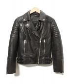 ALL SAINTS(オールセインツ)の古着「レザーライダースジャケット」|ブラック