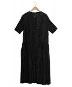 sally scott(サリースコット)の古着「スタンドカラーシャツワンピース」|ネイビー