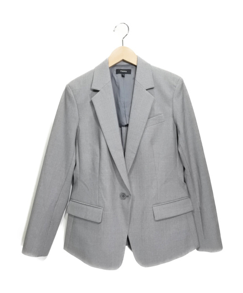 theory(セオリー)theory (セオリー) テーラードジャケット グレー サイズ:SIZE 2の古着・服飾アイテム
