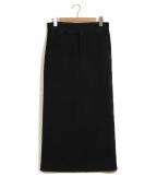 MM6(エムエムシックス)の古着「ボアスカート」|ブラック