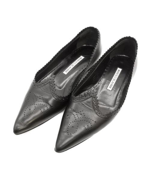 Manolo Blahnik(マノロブラニク)Manolo Blahnik (マノロブラニク) パンプス ブラック サイズ:SIZE 34の古着・服飾アイテム