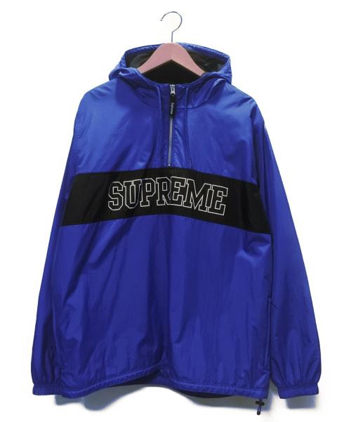 Supreme(シュプリーム)Supreme (シュプリーム) アノラックパーカー ブルー サイズ:SIZE L Nylon Ripstop Pullover 16SSの古着・服飾アイテム