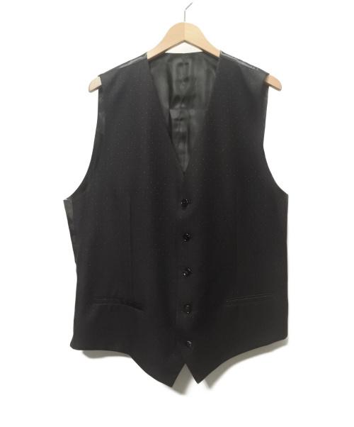 DOLCE & GABBANA(ドルチェアンドガッバーナ)DOLCE & GABBANA (ドルチェアンドガッバーナ) ドット柄ジレ/ベスト ブラック サイズ:SIZE 52の古着・服飾アイテム