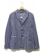 Fraizzoli(フライツォーリ)の古着「ストライプジャケット」|ブルー