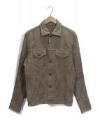 lucien pellat-finet(ルシアンペラフィネ)の古着「スカルジャガードトラッカージャケット」 ベージュ