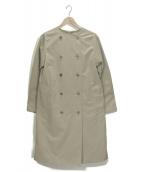 Traditional Weatherwear(トラディショナル ウェザーウェア)の古着「ノーカラーコート」|ベージュ