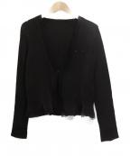 SPECCHIO(スペッチオ)の古着「ラインストーンプリーツジャケット」|ブラック