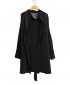 SPECCHIO(スペッチオ)の古着「プリーツカーディンガン」|ブラック