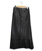 KEITA MARUYAMA(ケイタ マルヤマ)の古着「レザースカート」|ブラック