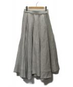 MADISON BLUE(マディソンブルー)の古着「ウール タックボリュームスカート」|グレー