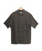 LEMAIRE(ルメール)の古着「チェック半袖シャツ」|ブラック×ブラウン