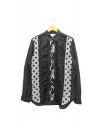 COMME des GARCONS SHIRT(コムデギャルソンシャツ)の古着「切替シャツ」|ブラック