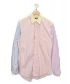 COMME des GARCONS HOMME DEUX(コムデギャルソン オム ドゥ)の古着「切替シャツ」|レッド