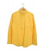 PORTUGUESE(ポルトゲース)の古着「シアサッカーシャツ」|イエロー