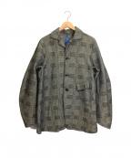 KATO(カトー)の古着「チェックジャケット」|グレー