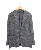 TAGLIATORE(タリアトーレ)の古着「メランジコットンテーラードジャケット」|ブルー