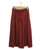 YARRA(ヤラ)の古着「リトアニアリネンスカート」|レッド