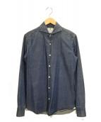 giannetto(ジャンネット)の古着「ホリゾンタルカラーデニムシャツ」|インディゴ