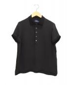 POLO RALPH LAUREN(ポロラルフローレン)の古着「シルクポロシャツ」|ブラック