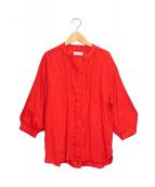MACKINTOSH(マッキントッシュ)の古着「スタンドカラーシャツ」|レッド