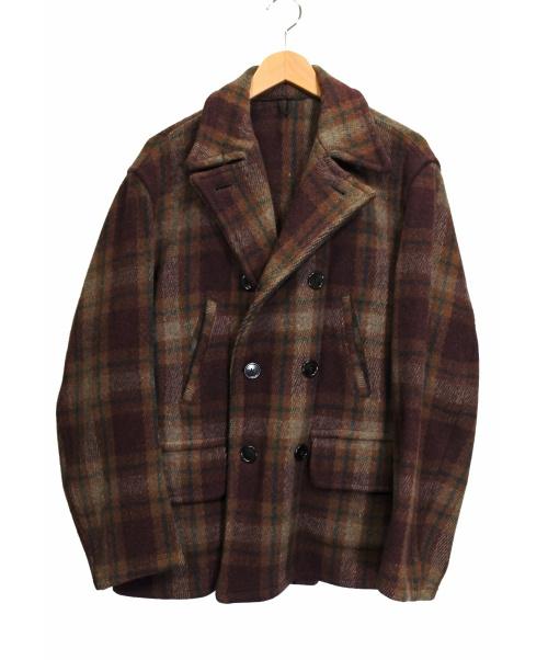 POLAR ELY&WALKER(ポーラーエリーアンドウォーカー)POLAR ELY&WALKER (ポーラーエリーアンドウォーカー) 【古着】 50-60'SチェックPコート ブラウン サイズ:下記参照の古着・服飾アイテム