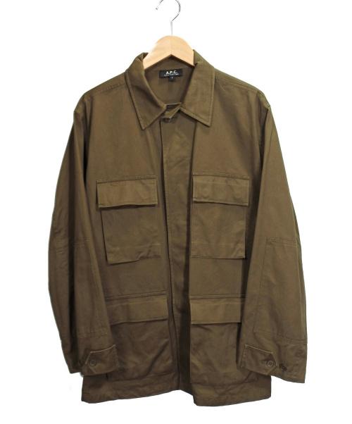 A.P.C.(アーペーセー)A.P.C. (アーベーセ) ミリタリーシャツ オリーブ サイズ:Sの古着・服飾アイテム