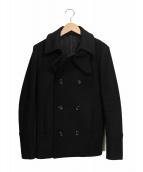 ATTACHMENT(アタッチメント)の古着「カシミヤ混Pコート」|ブラック