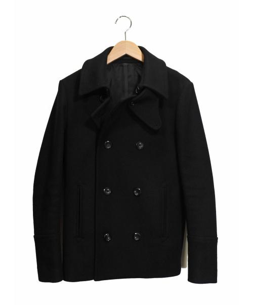 ATTACHMENT(アタッチメント)ATTACHMENT (アタッチメント) カシミヤ混Pコート ブラック サイズ:1の古着・服飾アイテム