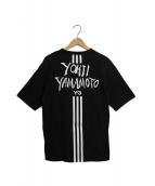 Y-3(ワイスリ)の古着「ロゴプリントTシャツ」 ブラック