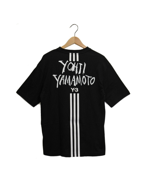 Y-3(ワイスリー)Y-3 (ワイスリ) ロゴプリントTシャツ ブラック サイズ:Sの古着・服飾アイテム