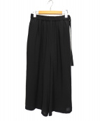 OPENING CEREMONY(オープニングセレモニー)の古着「ベルトワイドパンツ」 ブラック