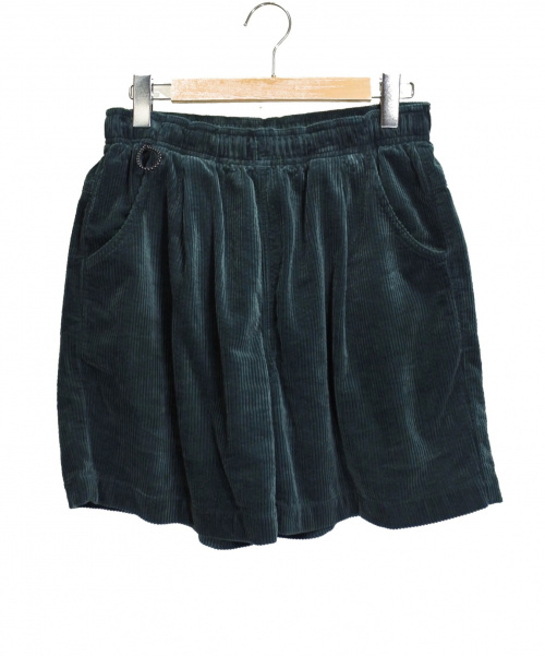 mas.(マス)mas. (マス) コーデュロイハーフパンツ グリーン サイズ:Lの古着・服飾アイテム