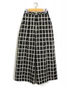 AKIRA NAKA(アキラ ナカ)の古着「チェックワイドパンツ」|ブラック