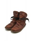 Trippen(トリッペン)の古着「ボム ショートブーツ」|ブラウン