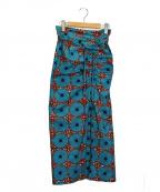 bractment(ブラクトメント)の古着「カンガギャザースカート」|ブルー