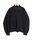 AP STUDIO(エーピーステゥディオ)の古着「ブラックオーバーデニムジャケット」|ブラック