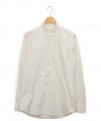 Salvatore Piccolo(サルヴァトーレ・ピッコロ)の古着「切替バンドカラーシャツ」 ホワイト