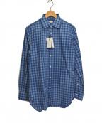 EDIFICE(エディフィス)の古着「チェックシャツ」 ブルー