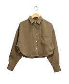 JUEMI(ジュエミ)の古着「Dress Short Shirt」|ベージュ